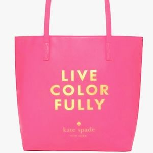 LIKE NEW KATE SPADE •LIVE COLOR FULLY• TOTE BAG